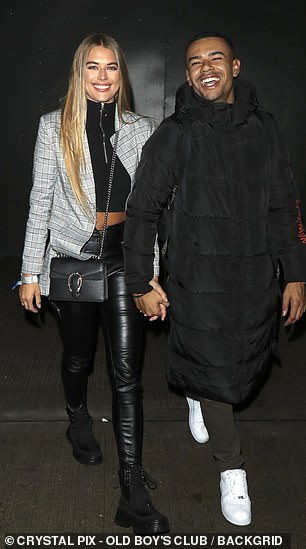 Couple: Wes is a member of No Love Lost while Arabella looked proud as she turned out to support him