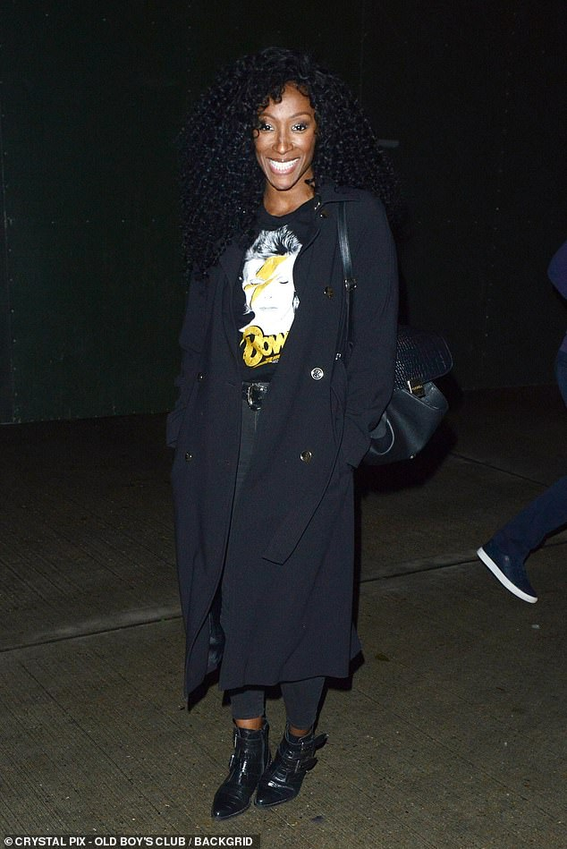 All smiles: Although she may have been eliminated, Victoria Ekanoye, 36, looked in high spirits after the show