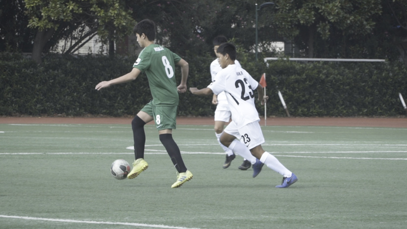 A student soccer match in Shanghai, October 2019. Sixth Tone