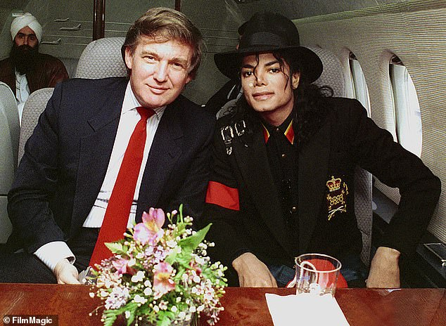 Back then: Donald Trump and Michael Jackson share a private jet together awhile back