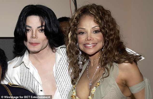 Family: Michael is pictured above with LaToya Jackson while backstage at the 3rd Annual BET Awards