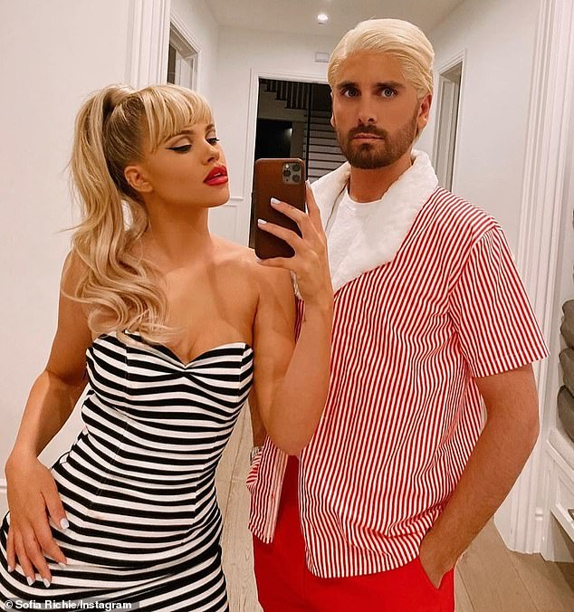 Earlier this year: Sofia and Scott Disick were last seen together on Halloween when they dressed up as Barbie and Ken