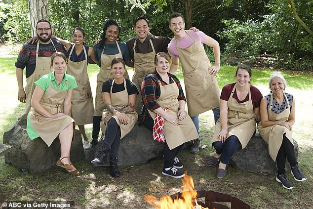 Exciting: First looks snaps unveil the ten bakers battling it out (L-R) Carlos, Helen, Sarita, Bianca, Dana, Andrew, Tanya, Alex, Marissa and Sally