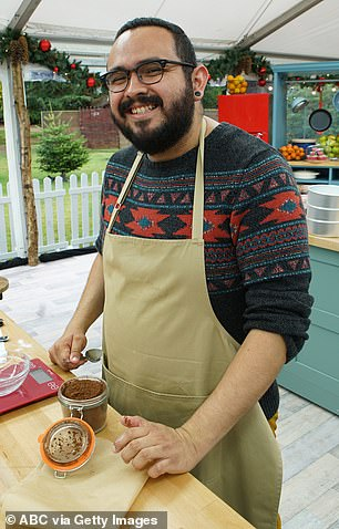 Put to the test: Carlos will show off his baking skills in the tent
