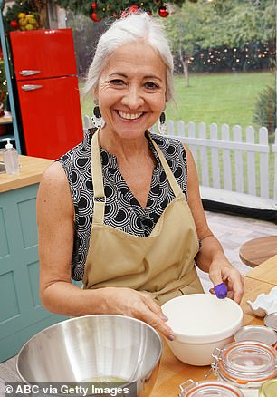 In competition: Sally is the oldest contestant this series
