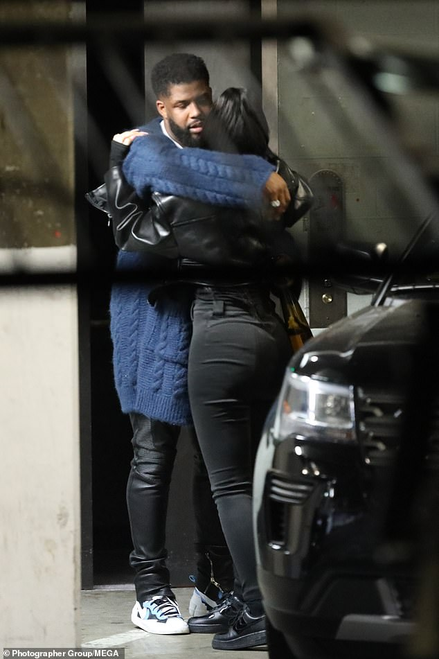 Pals: Also accompanying her was Leon Anderson, who is also friends with the likes of Rita Ora and Rihanna