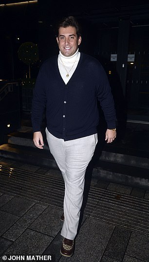 Looking good! James appeared to be in good spirits as he strolled out of the hotel clad in a smart ensemble with his weight-loss clearly visible