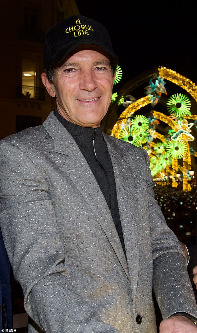 'I had to do the things that I want to do': Antonio Banderas, 59, revealed his new motivation to live life on his terms, following his health scare. He is seen on Friday in Malaga, Spain