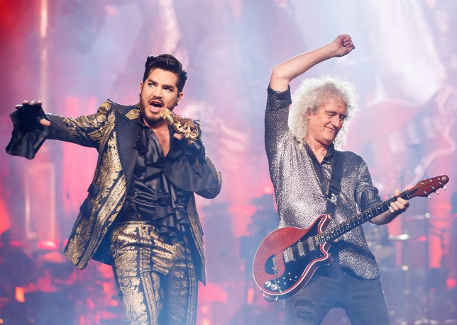 Queen (Brian May) and Adam Lambert
