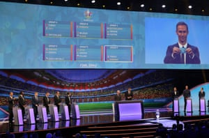 Ricardo Carvalho on the big screen during the draw.