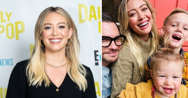 Hilary Duff and her family: partner Matthew Koma, 13-month old Banks and seven-year-old Luca