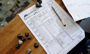 No screens in sight … the role-playing game Dungeons & Dragons, now in its fifth edition.
