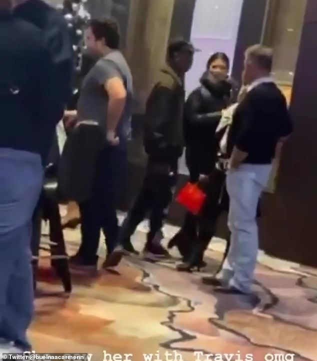 Are Kylie Jenner and Travis Scott back on? That very well might be the case, judging from a Kylie Jenner fan account who spied the pair at a Palm Springs casino on Saturday