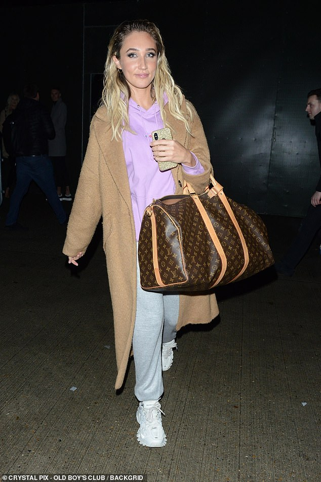 Stunning: Megan McKenna, 27, looked radiant as ever as she departed The X Factor: Celebrity at LH2 Studios in London on Saturday after another successful performance
