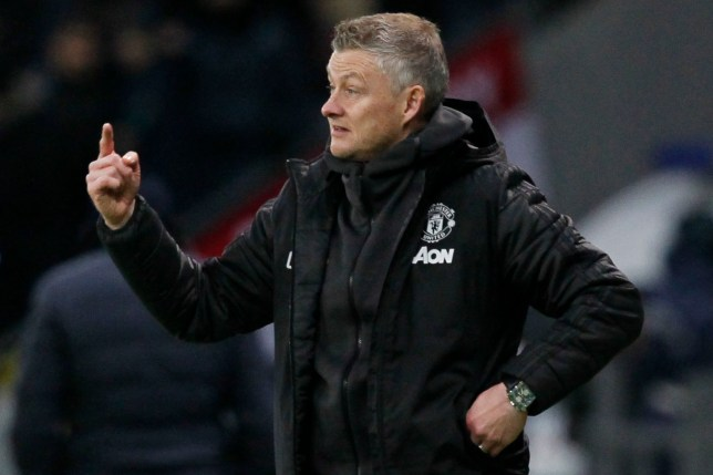 Ole Gunnar Solskjaer during Manchester United's defeat at Astana in the Europa League