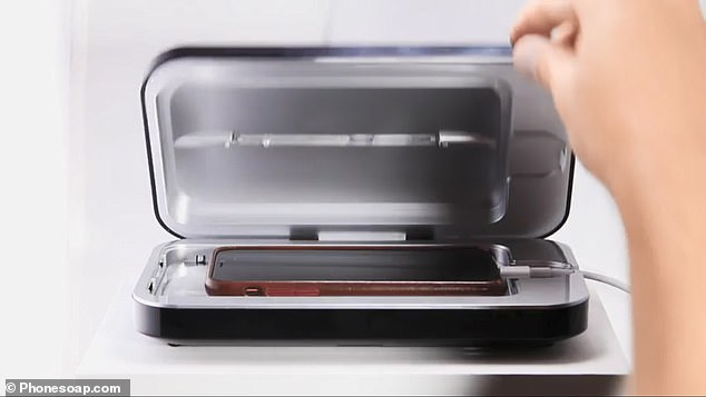 A firm has launched a device that kills 99.9 percent of common household germs without using water. Called PhoneSoap , this technology uses UV-C light to sanitize and charges the phone while it is being cleaned