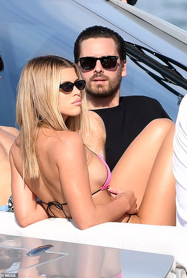 Reunited: On Monday afternoon, Sofia Richie and Scott Disick were finally seen together while enjoying a yacht outing in Miami with pals