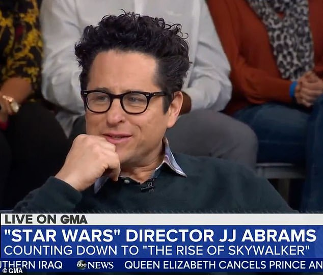 Getting real:Star Wars: The Rise of Skywalker's director JJ Abrams revealed on GMA that the script was almost leaked