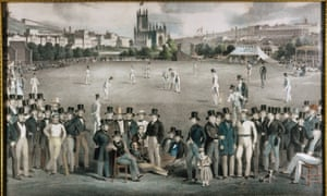 A match between Sussex and Kent in 1840, in the era of the great all-rounder Alfred Mynn.