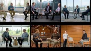 montage of Facebook video photos