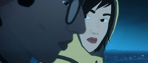 Gabrielle looks at Naoufel in an image from I Lost My Body.