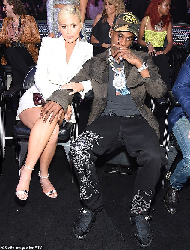 Time will tell: Signs do seem to point to a potential reunion between Kylie and her daughter's father; seen together atthe MTV Video Music Awards in NYC in2018