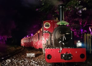 Twilight Trains at Perrygrove Railway in Coleford, in the west of the Forest of Dean