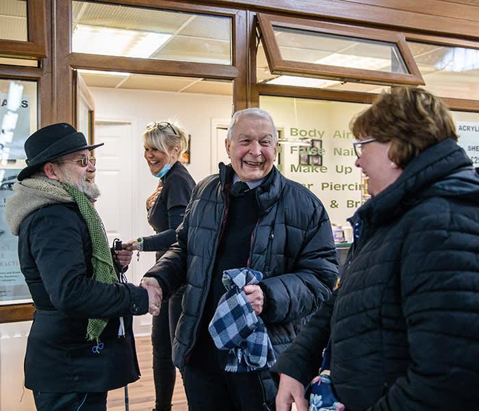 Frank Field. In the Market. Birkenhead. 20/11/19