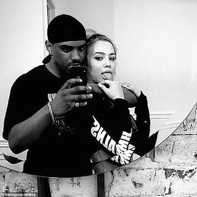 Over!Tammy appeared to split with Canadian rapper Jahkoy Palmer (left) in October, after debuting their romance in June