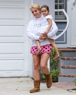 Best foot forward: Britney Spears and niece Lexie in 2015.