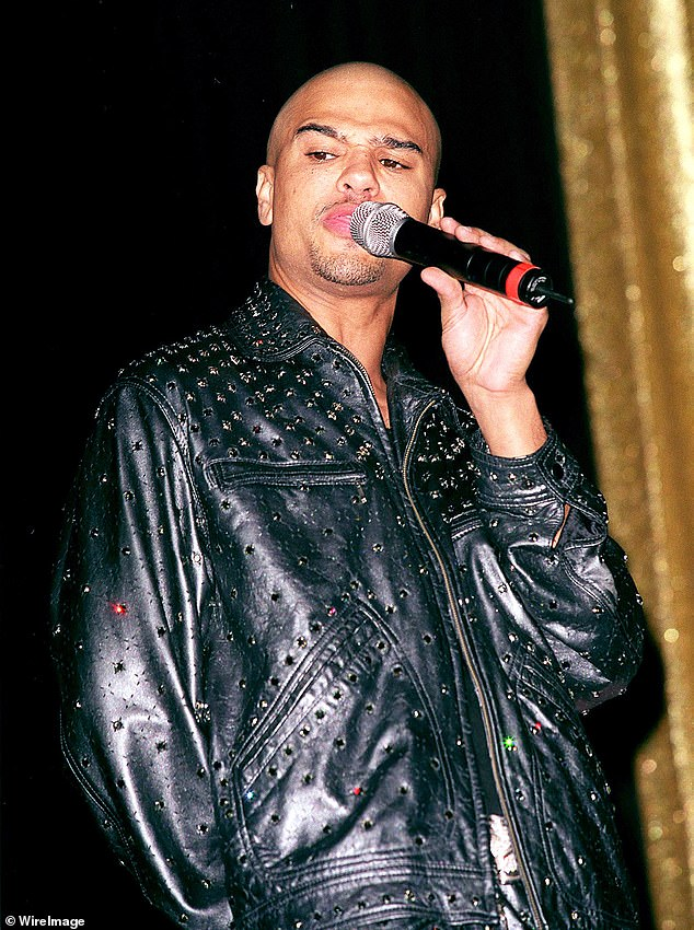 Success: DeBarge rose to fame for his 1986 hit single Talk To Me. He is pictured in 2000 above