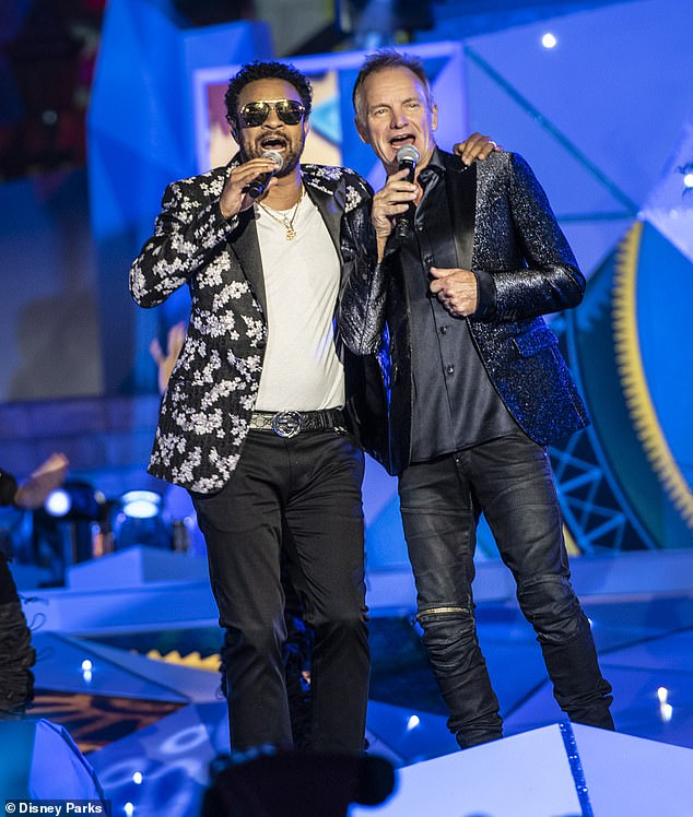 Festive: The British musician joined reggae star Shaggy for a version of Silent Night (Christmas is Coming)