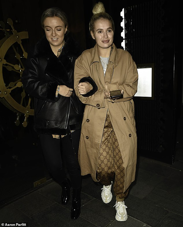 In good company: Molly-Mae and her sister Zoe enjoyed an evening out in Manchester on Thursday