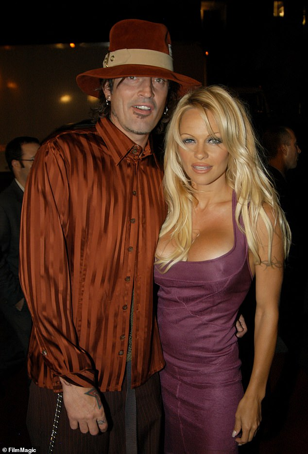 Flashback:Pamela married the drummer back in February 1995, four days after meeting on February 16. (Pictured in 2003)