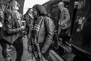 Corbyn travels to Newport, south Wales, with Diane Abbott