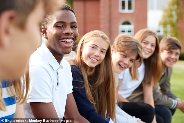 Teenage boys who witness abusive behaviour towards girls are up to five times more likely to be violent and abusive themselves, researchers claim (stock image)