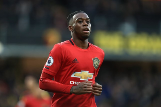 Aaron Wan-Bissaka during Manchester United's Premier League clash with Watford