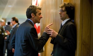 Peter Capaldi and Chris Addison in Iannucci's 2009 film debut, In The Loop.
