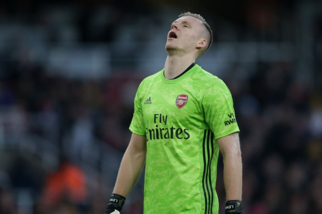 Bernd Leno looks to the sky after making an error in Arsenal's defeat to Chelsea