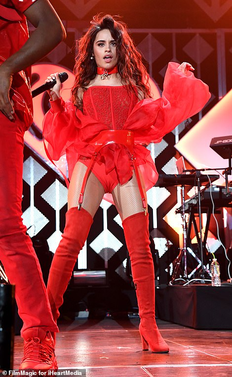 Here come the girls! Camila Cabello, 22, looked incredible as she joined Katy Perry, 35, on stage at the star-studded KISS FM's Jingle Ball in Inglewood, California on Friday night