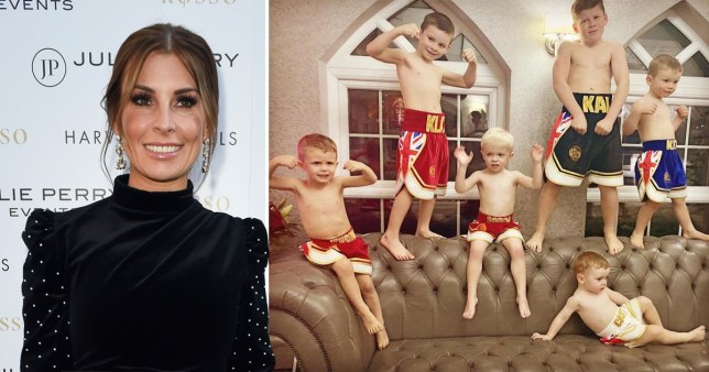 Coleen Rooney and her sons