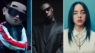 Daddy Yankee, Stormzy and Billie Eilish
