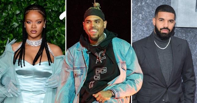 Chris Brown, Rihanna, Drake