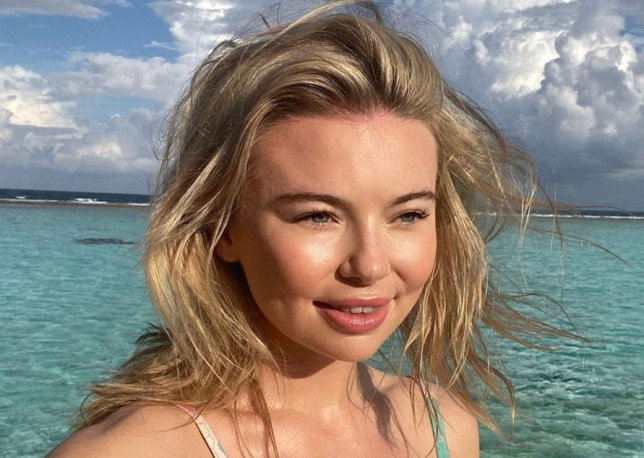 Georgia Toffolo spends Christmas in the Maldives