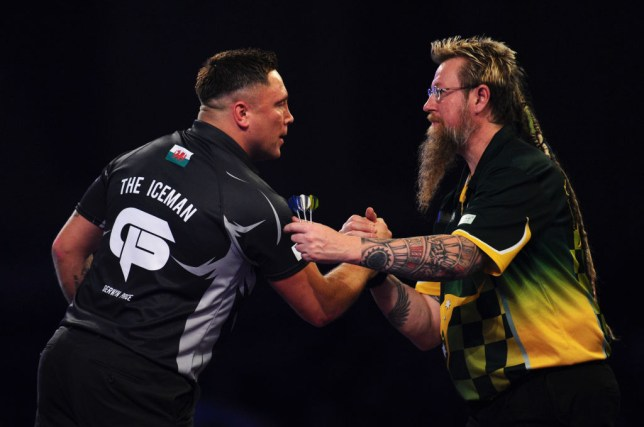 Gerwyn Price and Simon Whitlock