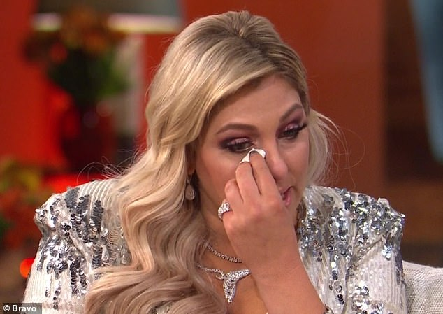 Tears flowing:Gina Kirschenheiter cried as she provided details about her ex-husband Matt's alleged domestic violence attack on Thursday's third and final RHOC reunion