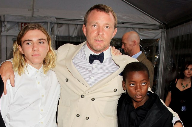 Rocco Ritchie, Guy Ritchie and David Banda