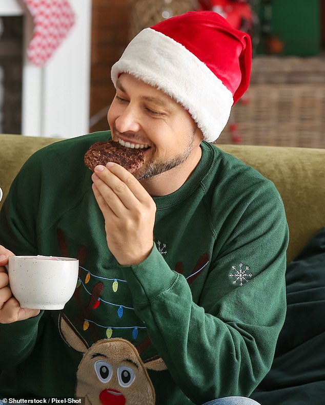 Christmas often takes a toll on our waistline, but a new study suggests gorging on sugary snacks may boost male fertility in the short term (stock)