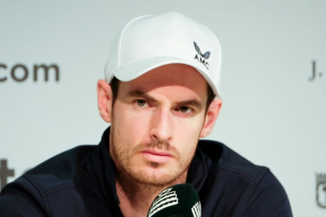 Andy Murray, who has withdrawn from the Australian Open with injury, answers questions at a press conference