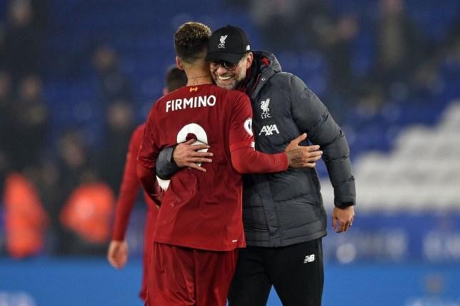 Liverpool boss Jurgen Klopp and Roberto Firmino